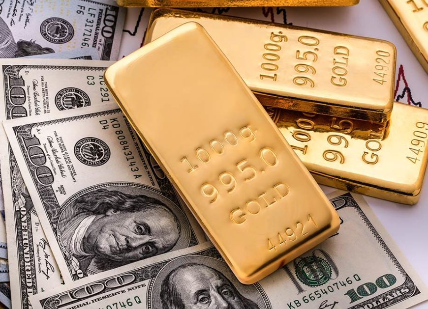 gold pushes