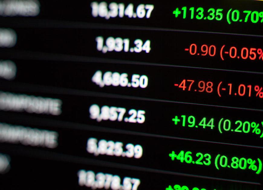 Major stocks in the United States